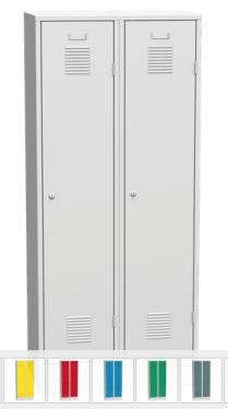 K2470 2-ajtós öltözőszekrény lábazattal