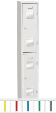 K2469/300 A 2-ajtós öltözőszekrény lábazattal (rövid ajtós)
