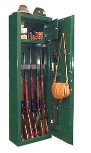 DIANA-7 minősített fegyverszekrény 7 puskának, kulcsos zárral