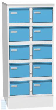 K2395 S 10 fiókos kartotészekrény A/5 lapoknak
