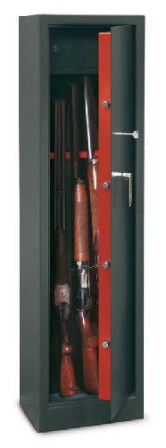 TCH-5 minősített fegyverszekrény 5 puskának, kulcsos zárral
