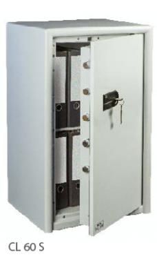 CL 60 S duplafalú tűzálló bútorszéf kulcsos zárral