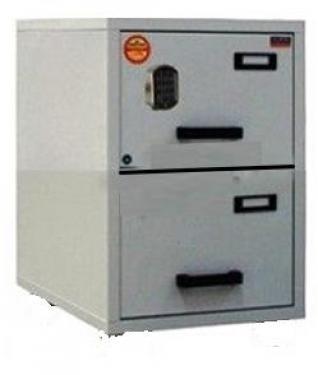 FC 2E-NN tűzálló függőmappa tároló szekrény (2 fiók, 60 perc, el. zár)