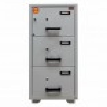 FC 3K-KK tűzálló függőmappa tároló szekrény (3 fiók, 60 perc, kulcsos központi zár+kulcsok)