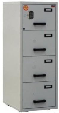 FC 4E-NN tűzálló függőmappa tároló szekrény (4 fiók, 60 perc, el. zár)
