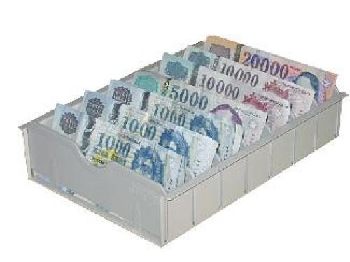 KBL 7 rekeszes bankjegy tartó pénztárfiókba