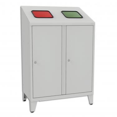 MPO 02rk szelektív hulladékgyűjtő (2 edény, 1x 120 l zsák, 1x fémtartály)