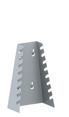 QDN_51_02 csillag-villáskulcs tartó konzol (8 szerszámnak, 1 db/csomag)