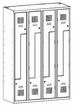"""Sul 34 W """"Z"""" ajtós öltözőszekrény (8 ajtós, lábazaton)"""