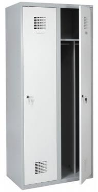 Sum 420 W hosszúajtós öltözőszekrény (2 ajtós, lábazaton álló, osztott