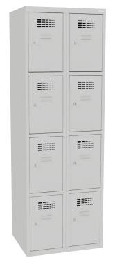 Sus 324 W értékmegőrző/csomagmegőrző szekrény (8 rekesz, teli lábazaton álló)