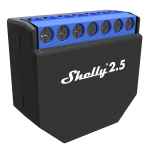 Shelly 2.5 Duble Relay Switch 2ch 10A with Roller Shutter