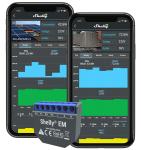 Shelly EM 1 fázisú fogyasztásmérő és vezérlő