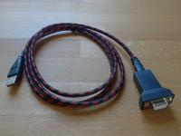 Soros - USB link kábel 1.5m, USB-DB9F