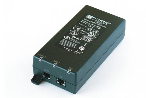 PHIHONG POE36D-1AT 33,6W 36-72V DC input táp + IEEE802.3at Gigabit PoE