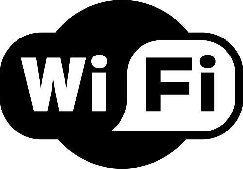 """WiFi"" feliratos öntapadó matrica 97 x 69 mm"
