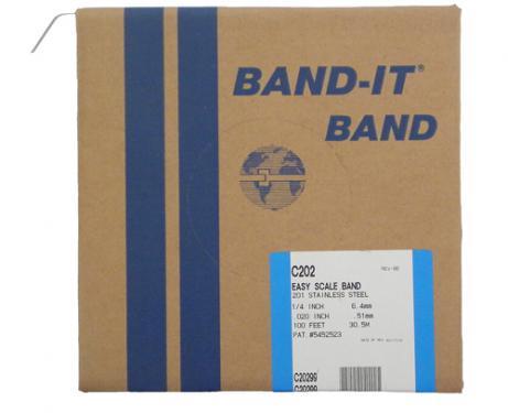 BAND-IT C202 pántoló szalag 6,35mm 30,5m papírdobozban