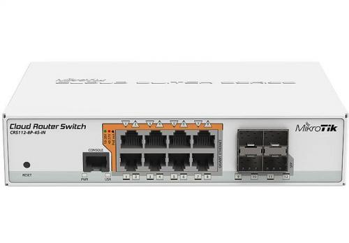 Cloud Router Switch CRS112-8P-4S-IN asztali/RACK POE switch