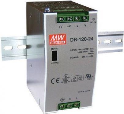 DR-120 120 Watt tápegység, DIN