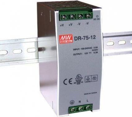 DR-75 75 Watt tápegység, DIN