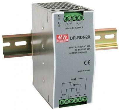 DR-RDN20 redundáns modul, DIN