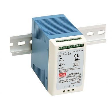 DRC-100 100 Watt tápegység + akku töltő, DIN