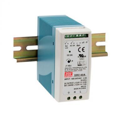 DRC-60 60 Watt tápegység + akku töltő, DIN