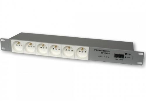 IP Power 230V hálózati elosztó 6G10A Fehér