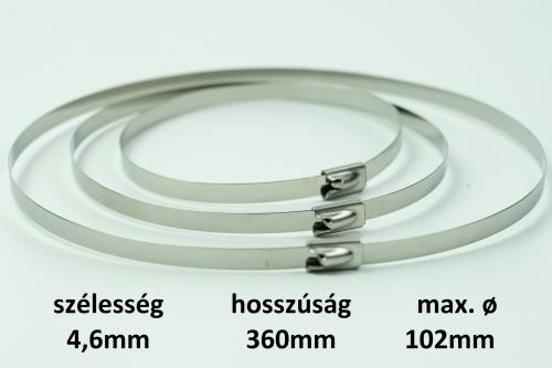 METZ golyós zárású bilincs 4,6X360 mm d=102 mm r.m