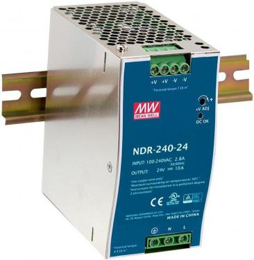 NDR-240-24 24V 240W tápegység DIN