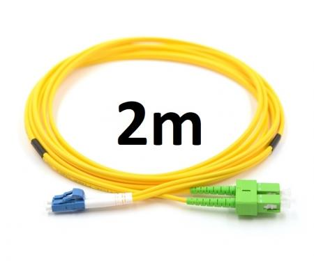 Optikai patch SC/APC-LC/UPC SM DX duplex 3mm 2m