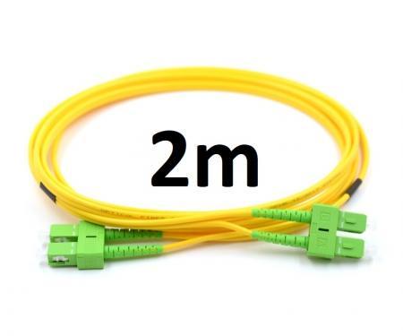 Optikai patch SC/APC-SC/APC SM SX simplex 3mm 2m