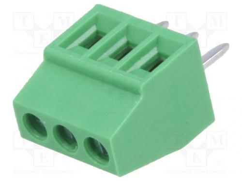 PCB Sorkapocs, 3 pólus, 2.54 raszter, 1mm2, 90°