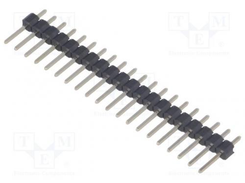PCB tüskesor egyenes apa 1x20 pin 2.54 raszter THT