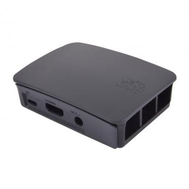 Raspberry Pi Case Black/Gray ház RBI Pi4