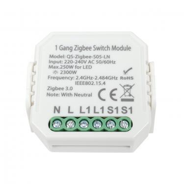 SmartWise Zigbee 230V relé 1 csat, kapcsolóbemenet