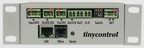 Tinycontrol DC/DC.BAT120 konverter, menedzselhető tápegység
