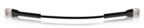 Ubiquiti CAT6 patch kábel 30 cm FEKETE