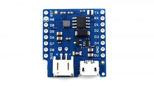 Wemos D1 Mini Battery Shield V1.2.0 akkumlátor töltésvezérlő
