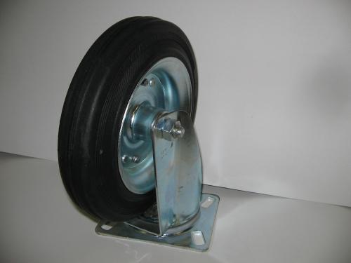 Forgó talpas kerék  200 mm fekete gumis