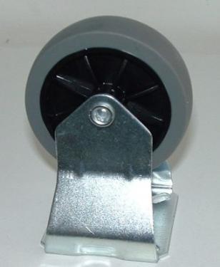 Fix álló kerék szürkegumis  75 mm