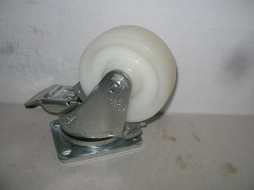 Forgófékes talpas kerék  poliamid  100 mm