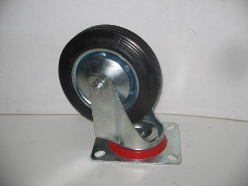 Forgó kerék  fekete gumis 160 mm