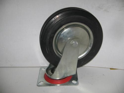 Forgó kerék  fekete gumis 200 mm