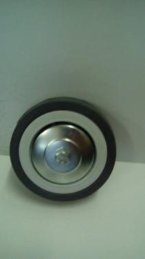 Alap kerék szürke gumis golyóscsapágyas  100 mm