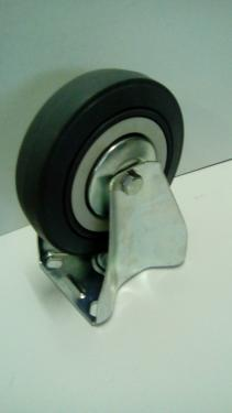 Kerék  szürke gumis golyóscsapágyas fix álló 125 mm