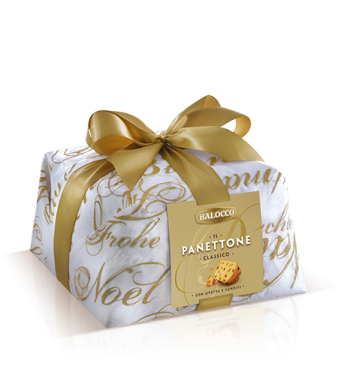 Balocco Panettone arany masnis díszcsomagolt 1kg