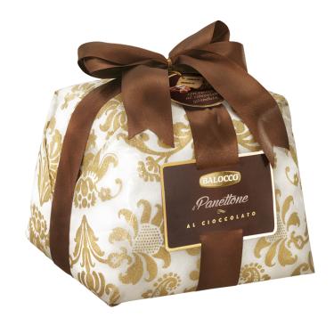 Balocco panettone csokoládékrémmel díszcsomagolásban 800g
