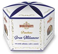 Bonifanti panettone Milanese díszdobozban 1kg