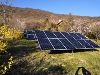 Földre telepített napelem tartószerkezet - Treesystem tartószerkezet 20 db napelemhez
